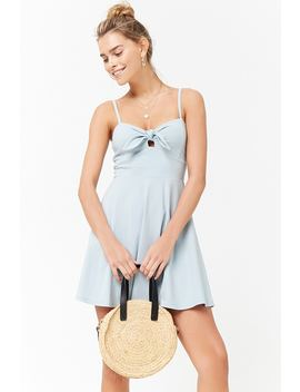 Tie Front Cami Skater Dress by Forever 21