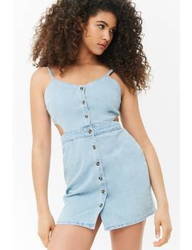 Cutout Denim Dress by Forever 21