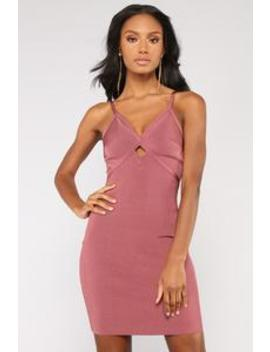 According To Plan Bandage Dress   Rose Brown by Fashion Nova