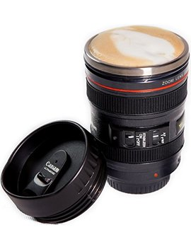 Camera Lens Coffee Mug, Best Photographer Gift, Ideal For Travel, Authentic Replica Of The Canon 24 105mm Lens (Mug Only) by Indie Camera Gear
