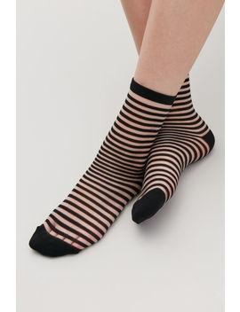 Striped Sheer Socks by Cos