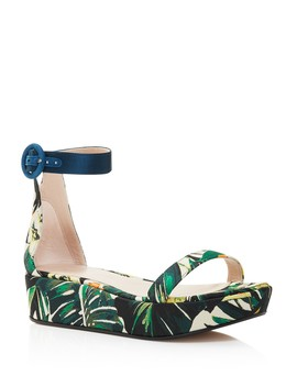 Women's Capri Printed Jacquard Platform Ankle Strap Sandals   100 Percents Exclusive by Stuart Weitzman