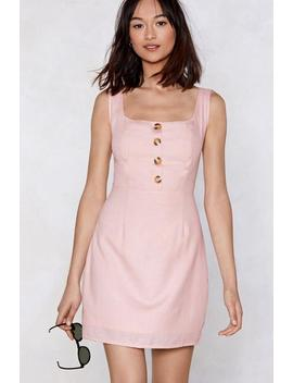 Button The Run Mini Dress by Nasty Gal