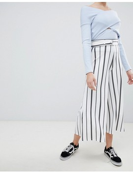 Bershka Stripe Wide Leg In Multi by Bershka
