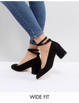 London Rebel Wide Fit – Schuhe Mit Mittelhohem Blockabsatz by Asos Brand