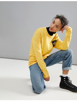 The North Face Fine Long Sleeve Top In Yellow by The North Face