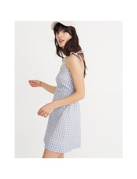 Gingham Tie Strap Dress by Madewell