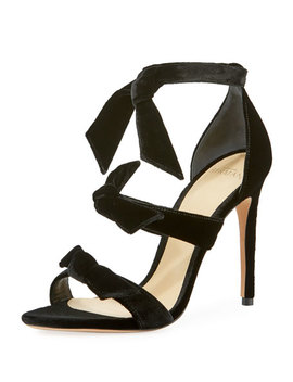 Mary Velvet 100mm Sandal by Alexandre Birman