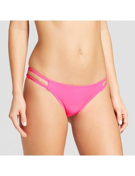 Women's Strappy Extra Cheeky Bikini Bottom   Xhilaration™ Hot Pink by Shop This Collection