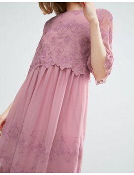 Asos – Hochwertiges, Hübsches, Zweilagiges Kleid Mit Stickerei by Asos Collection
