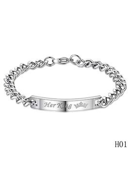 Her King Bracelets His Queen Couple Bracelets With Crytal Stone Boyfriend Girlfriend Lover Jewelry Drop Shipping by Zhe Fanku