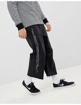 Cheap Monday Bez Cropped Jeans With Pixel Side Stripe by Cheap Monday