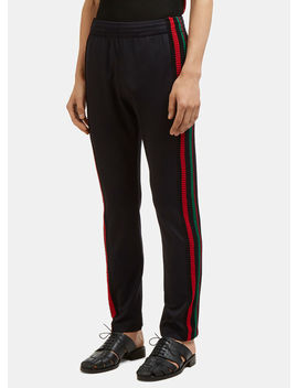 Crochet Palms Track Pant In Black by Wales Bonner