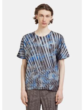 Wrinkle T Shirt In Blue by Issey Miyake Men