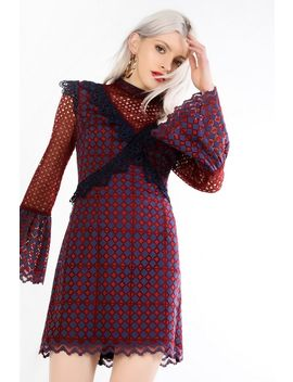 **Layered Lace Mini Shift Dress By Glamorous by Topshop
