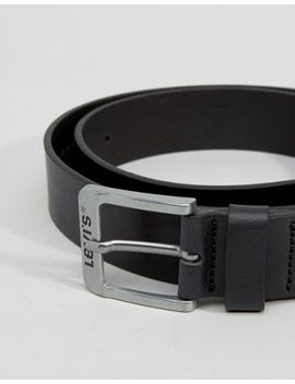 Levi's Classic Leather Belt In Black by Levi's