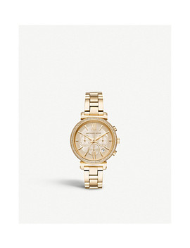 Mk6559 Sofie Gold Plated Stainless Steel Chronograph Watch by Michael Kors