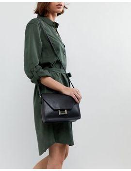 Pull&Bear Square Ring Detail Cross Body Bag In Black by Pull&Bear