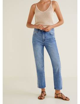 Jean Straight Liserés Contrastants by Mango