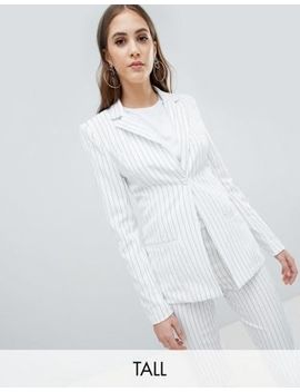 Missguided Tall Stripe Tailored Blazer by Missguided Tall