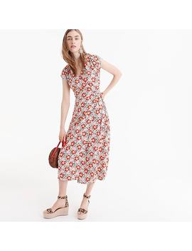 Petite J.Crew Mercantile Easy Wrap Dress In Seventies Floral by J.Crew