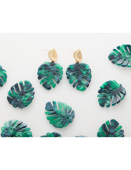 1pcs   Green Tortoise Leaf Shape Pendant Cellulose Acetate,  25 X 30 Plastic Pendant Resin Acrylic Pendant, Green Pendant  [At0044 Gr] by Etsy