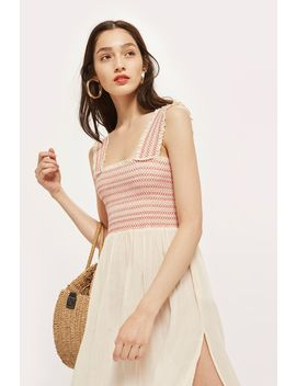 Shirred Midi Dress by Topshop