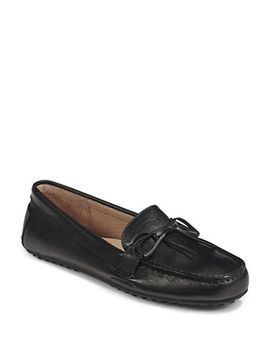 Womens Stirrup Trim Leather Loafers by Lauren Ralph Lauren