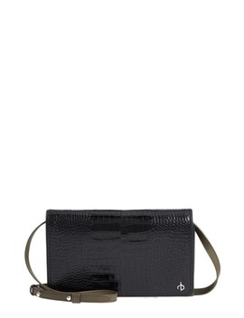 Croc Embossed Leather Crossbody Wallet by Rag & Bone