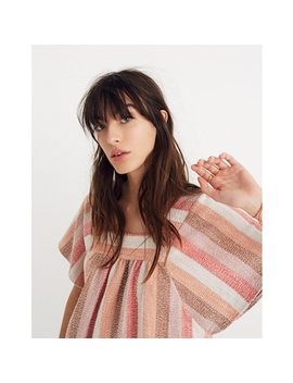 Texture & Thread Butterfly Top In Sherbet Stripe by Madewell