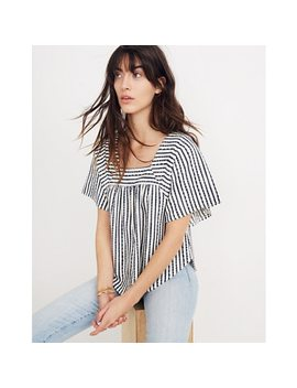 Texture & Thread Butterfly Top In Isley Stripe by Madewell