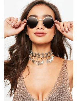 Quay Australia Gold Mod Star Sunglasses by Missguided