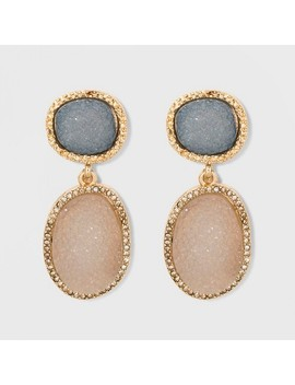 Sugarfix By Bauble Bar Druzy Drop Earrings   Gray by Sugar Fix By Bauble Bar