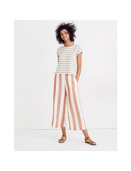 Huston Pull On Crop Pants In Evelyn Stripe by Madewell