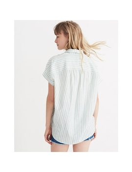 Central Shirt In Mint Stripe by Madewell
