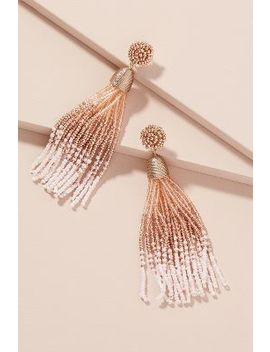 Ellinor Ombre Tassel Drop Earrings by Anthropologie