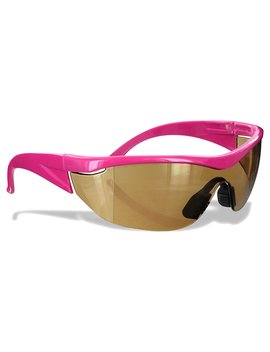 Safety Girl Sc 282 Polycarbonate Navigator Safety Glasses, Amber Lens, Pink Frame by Safety Girl