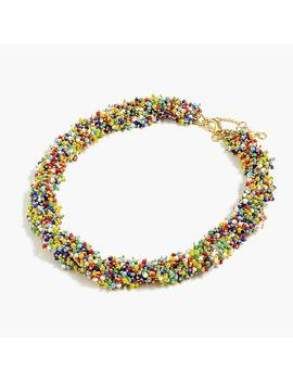 Twisty Beaded Necklace by J.Crew