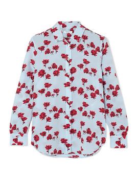 Leema Floral Print Washed Silk Shirt by Equipment