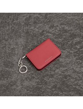 Link Detail Leather Id Card Case Charm by Burberry