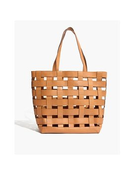 The Medium Transport Tote: Basketweave Edition by Madewell