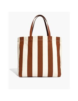 The Canvas Transport Tote In Stripe by Madewell