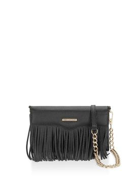 Fringe Leather Tech Crossbody by Rebecca Minkoff