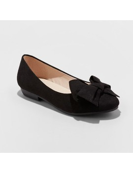 Girls' #Flowr Girl Dressy Ballet Flat Black   Stevies by Stevies