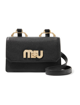 Textured Leather Shoulder Bag by Miu Miu