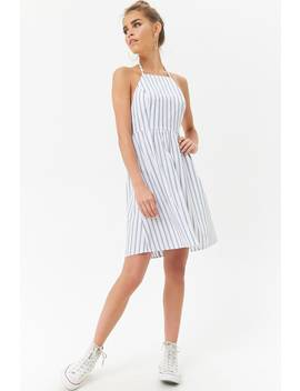 Striped Halter Dress by Forever 21