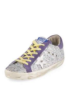 Glittered Star Low Top Sneaker by Golden Goose