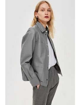 **Leather Pocket Shirt By Boutique by Topshop