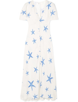 Jade Printed Chiffon Midi Dress by Rixo London