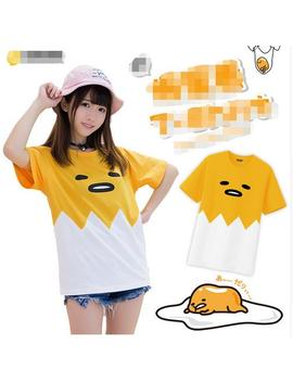 2018 Hot Anime Gudetama Unisex Kurzarm Cosplay T Shirt Kostenloser Versand For Free Shipping New by Ali Express